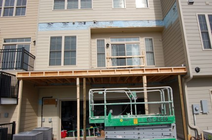 Condo Deck – New Framing 2
