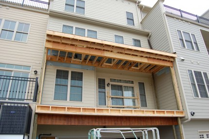 Condo Deck – New Framing 3